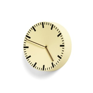 [Special price] Analog Wall Clock Light Yellow  주문후 3개월 소요