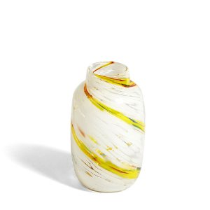 Splash Vase Round M Lemon Swirl