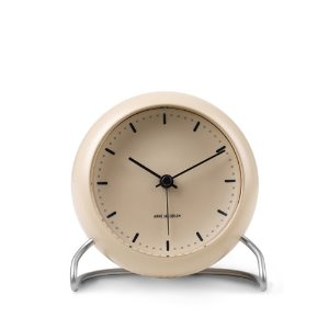AJ Table Clock City Hall Sandy Beige