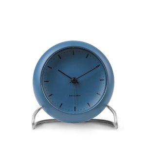 AJ Table Clock City Hall Stone Blue